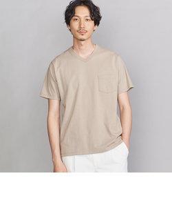 BY STABLE オーガニックコットン 1ポケット Vネック Tシャツ