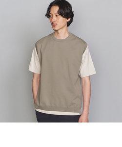 BY レイヤード ニットベスト&Tシャツ