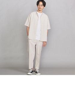 【WEB限定】by ツイル バンドカラーシャツ&テーパードパンツ セットアップ
