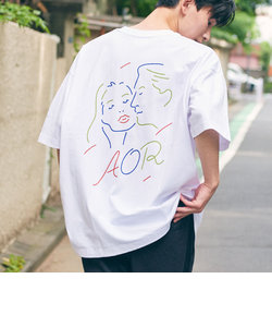 【WEB限定】 <AOR/Adult Oriented Records>×<info. BEAUTY&YOUTH> スーパービッグ Tシャツ FACE
