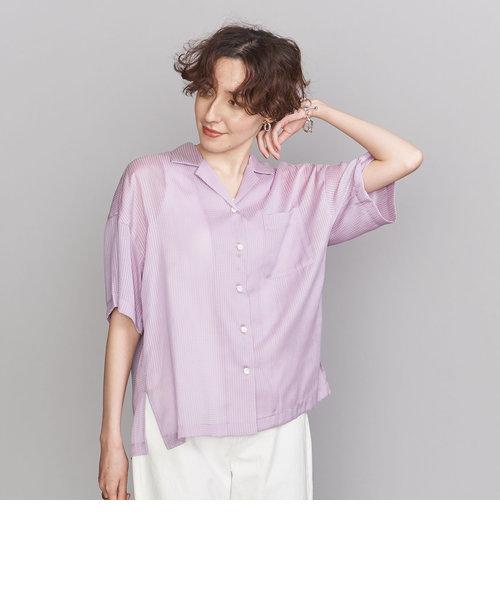 BY シアーオープンカラーシャツ