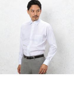 スリム イージーアイロン ヘリンボーン S/ワイドカラー シャツ