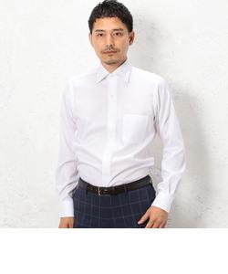 イージーアイロン シャドーストライプ ワイドカラー クレリックシャツ