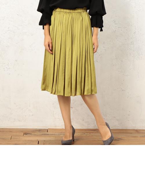 RF monable サテンギャザー スカート
