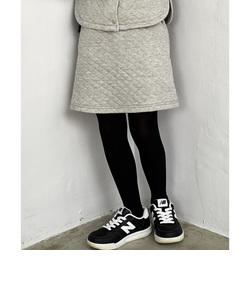 【キッズ】キルトジャカード ラメボーダー スカート