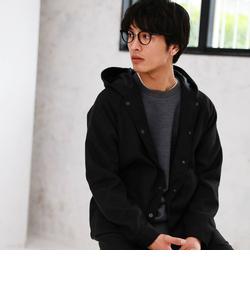 【WEB限定】 CM★★ウールライク フード コーチジャケット