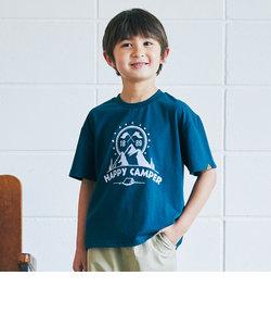 【キッズ】〔吸水速乾〕マウンテンプリントTシャツ ショートスリーブ