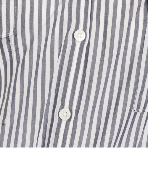 NFC Wポケット ルーズ Vネック スキッパー シャツ