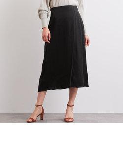 FFC サテン セミフレア スカート