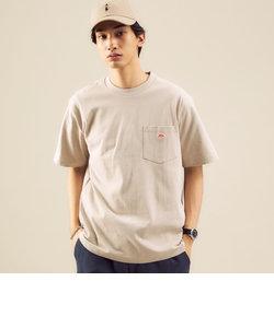 <DANTON(ダントン)>ロゴ ポケット Tシャツ