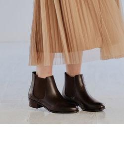 [21.5cm~25.5cm]◆SC サイドゴア ショートブーツ(3.5cmヒール)