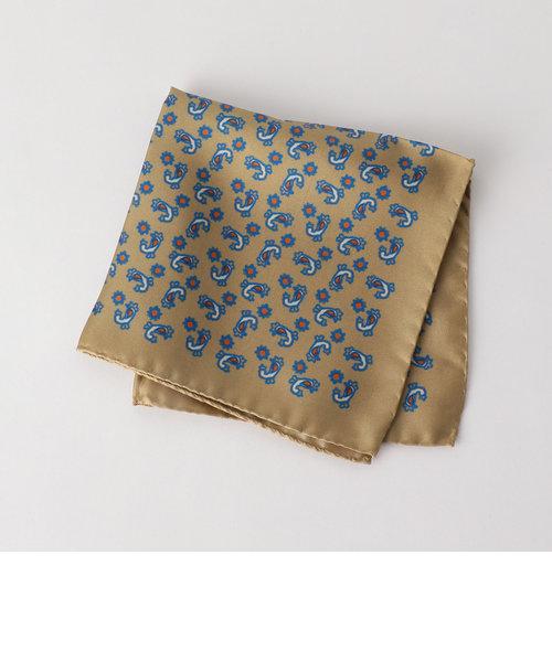 ★ [ ニッキー ] NICKY シルク ペイズリー ポケットチーフ