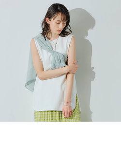 [ 1_OF MINE ] FFC GIZA ノースリーブ クルーネック Tシャツ <フリーサイズ>