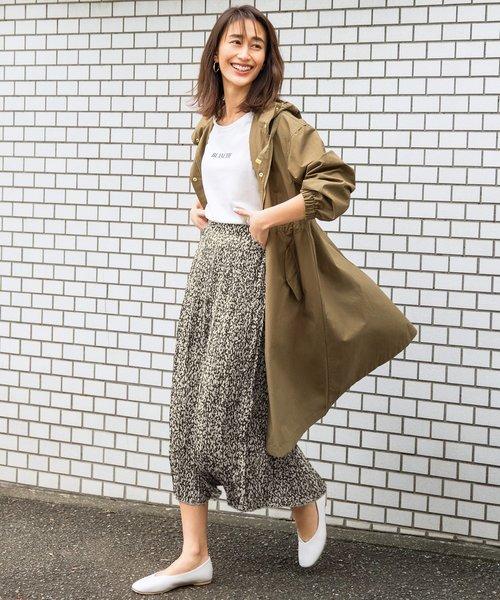 【mamagirl春号掲載】エスニッククリンクルプリーツ スカート