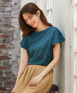 【大ヒット商品】【UVケア・接触冷感】Tフレアブラウス Tシャツ