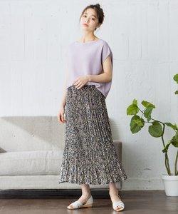 【洗える】フラワープリント スカート