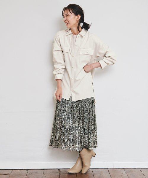 【洗える】シャイニーサテン スカート