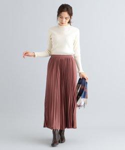 【洗える】サテンアコーディオン プリーツスカート