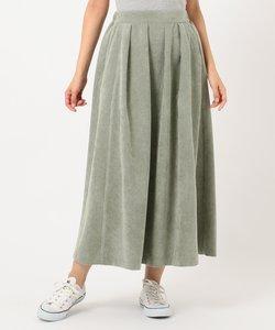 【洗える】ワイドコーデュロイ スカート