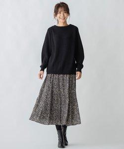 【洗える】ニュアンスドットプリント スカート