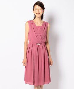 【洗える】ミモレシフォン ドレス