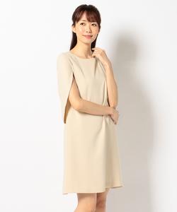 【洗える】スリットサック ドレス