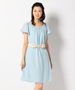 【2WAY・洗える】フレアジョーゼット ドレス