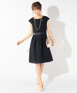 フローラルオーガンジー ドレス