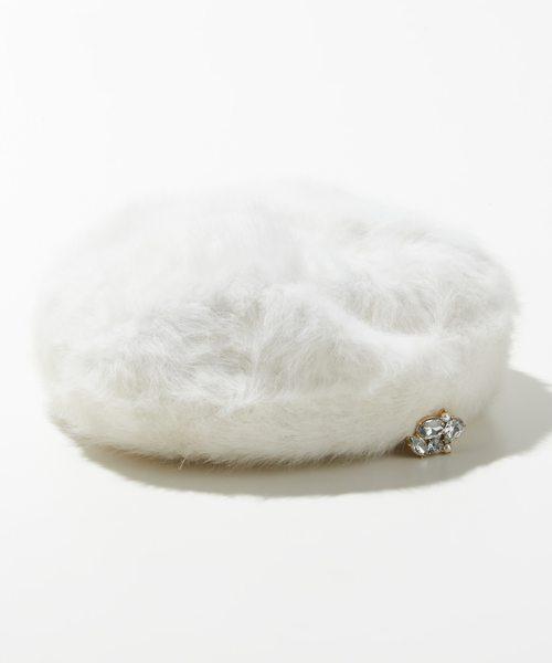 フェミニンアンゴラ ベレー帽