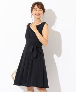 【洗える】ジョーゼットリボン ドレス