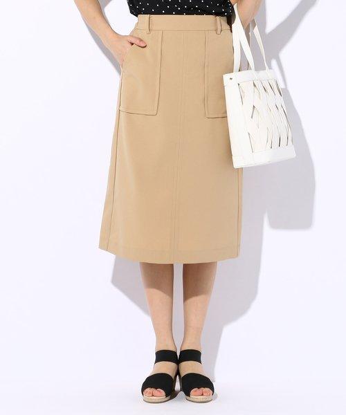 【洗える】アウトポケットタイト スカート