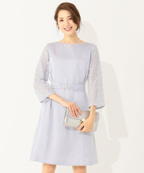 【洗える】クラシカルレース ワンピース ドレス