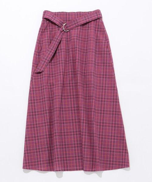 【WEB限定色あり・洗える】L'aube コットンローン スカート