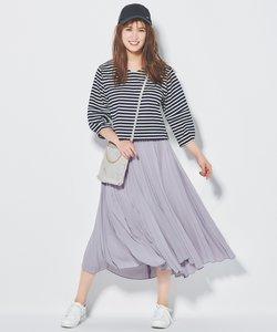 【WEB限定カラー有】トップス×イレヘムスカート セットアップ