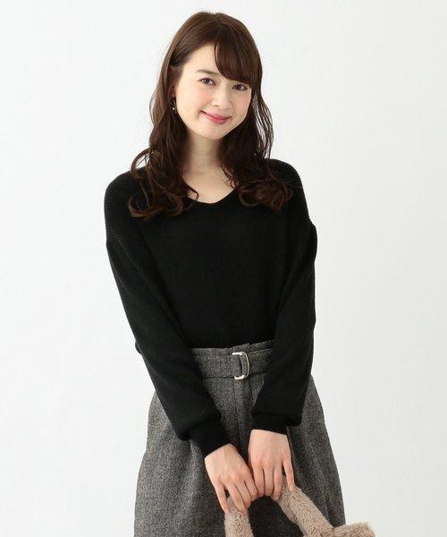 【難波蘭さん監修】パーソナルカラー Vネック ニット