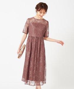 【洗える】エアリーチュールレース ドレス