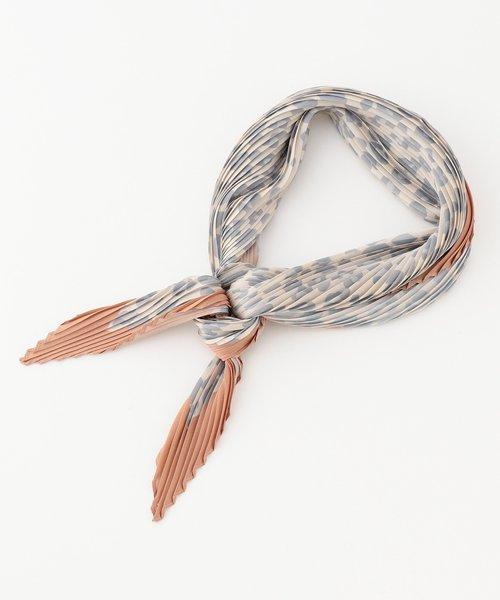 レオパードプリーツ スカーフ