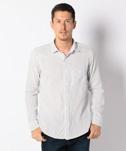 Wガーゼバックストライプ シャツ