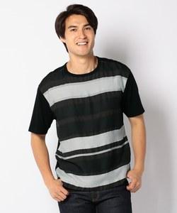 ボーダージャカードコンビ Tシャツ