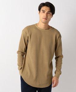 ワッフル長袖 ロングTシャツ