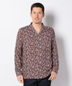 ボタニカルプリント オープンカラーシャツ