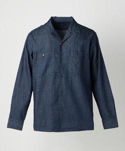 デニム オープンカラーシャツ