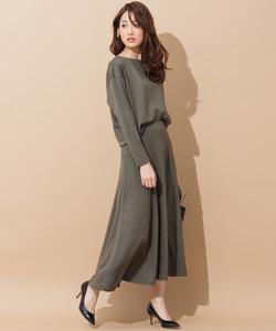 【セットアップ対応】ウールストレッチポンチ スカート