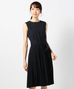 ランダムプリーツツイル ワンピース ドレス
