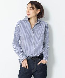 【マガジン掲載】CANCLINI ストライプチュニックシャツ(検索番号F33)