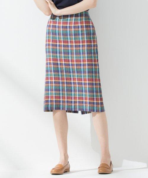 【中村アンさん着用】LIBECOラフリーリネン タイトスカート(検索番号K26)