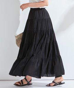 【洗える】SILK COTTON LAWN スカート