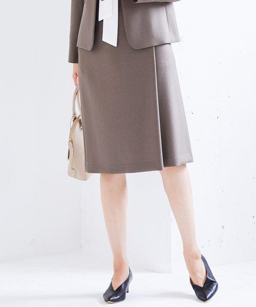【マガジン掲載】ダブルクロスストレッチ ラップスカート(検索番号H64)