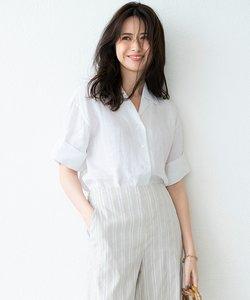 【マガジン掲載】LIBECO LINEN開襟シャツ(番号K24)