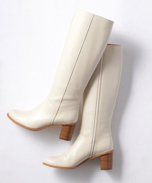 【中村アンさん着用】スムースレザーロング ブーツ(番号G66)